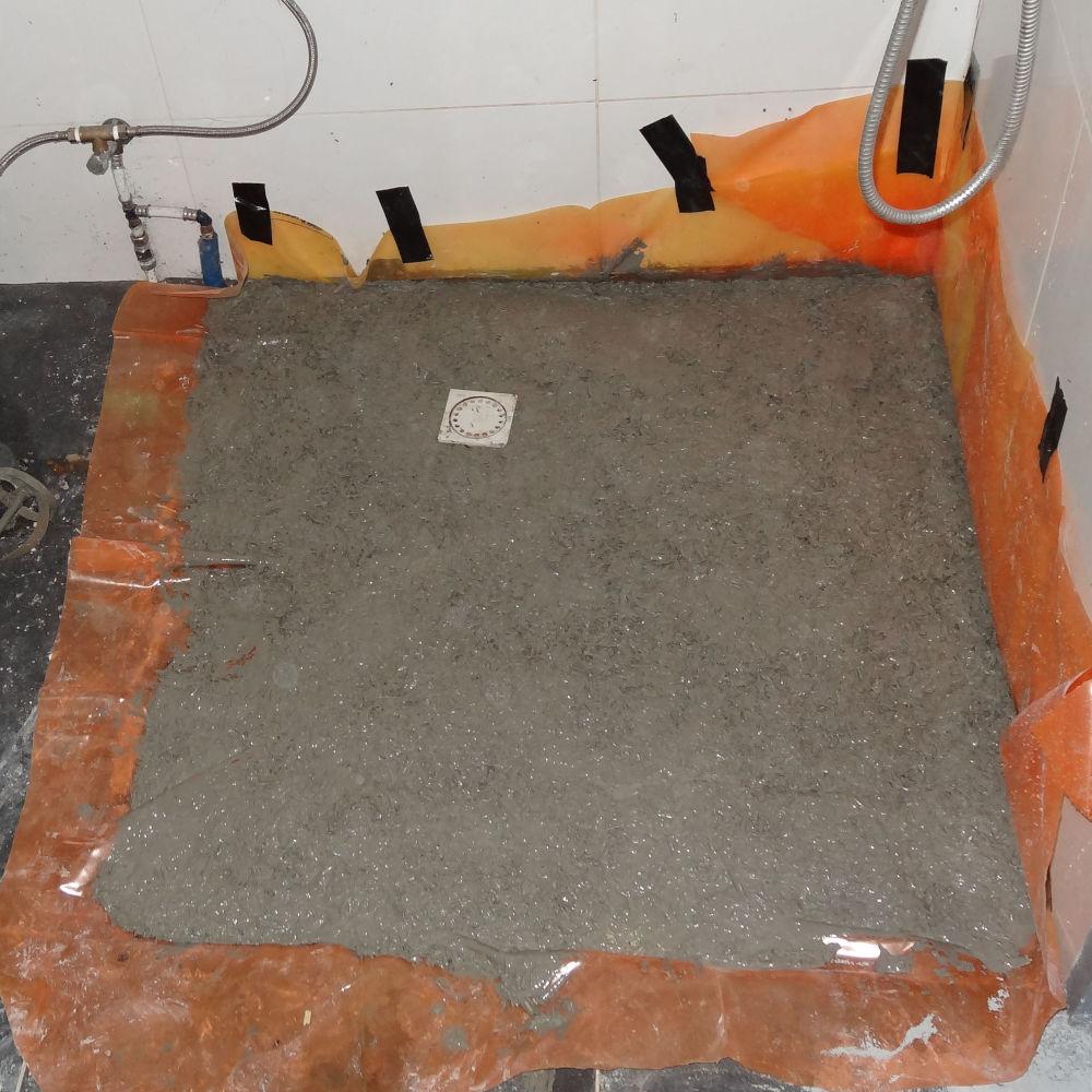 Kalkhennep stortvloer ipv betonvloer.