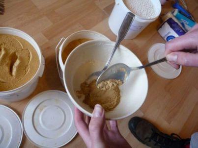 Uit deze bakjes konden we even later gewoon soep eten.